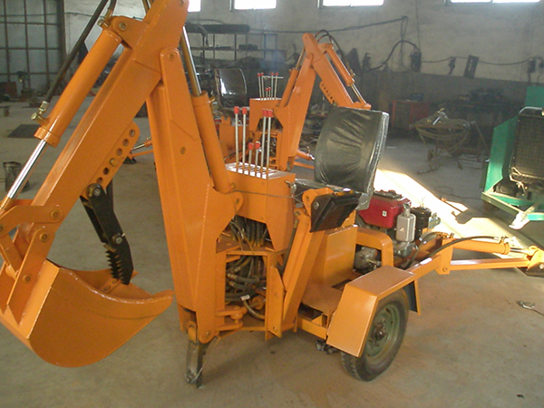Self powered excavator